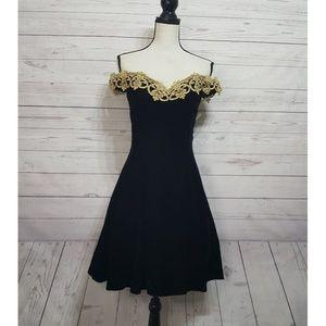 Gunne Sax Jessica McClintock Off Shoulder Dress